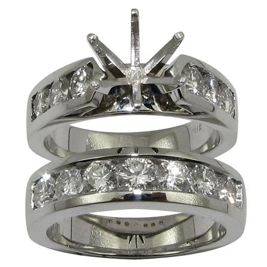 18K WG Channel Set Round Diamond Bridal Set