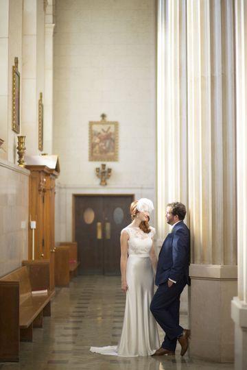 Quiet moment in a hidden hallway