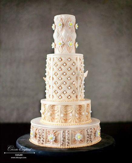 SUGAR Wedding Cake Norman OK WeddingWire