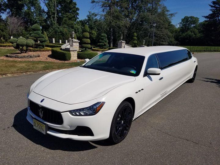 Long white car