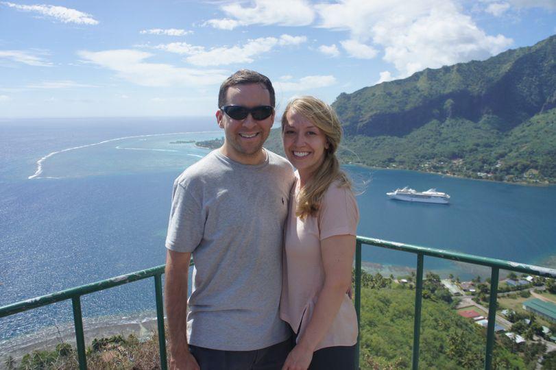 Honeymoon couple in Moorea (Tahiti)