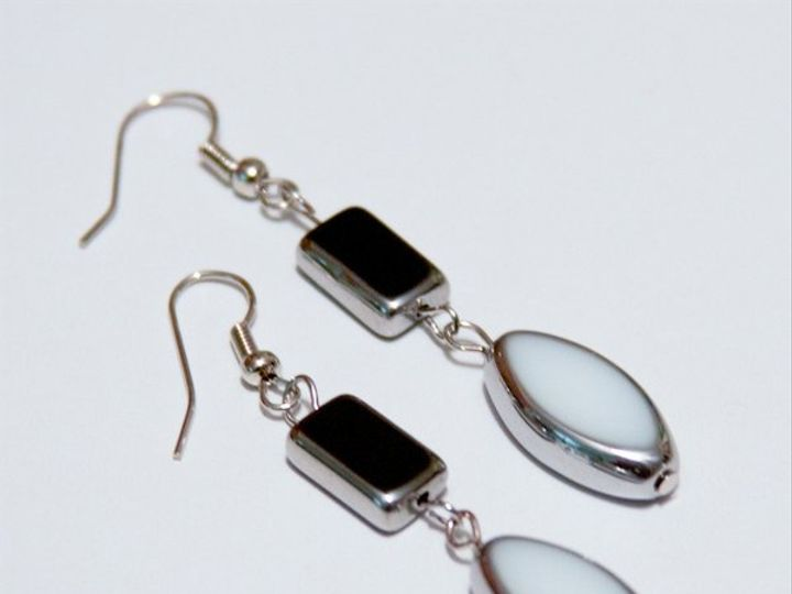 Tmx 1297299235666 Blackandwhiteearrings2W Janesville wedding jewelry
