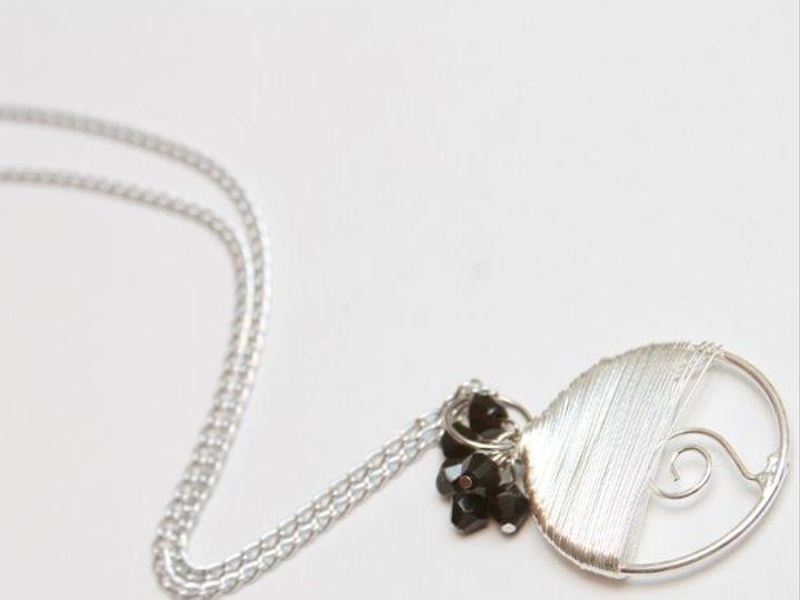 Tmx 1297299322604 BlackswirlnecklaceW Janesville wedding jewelry