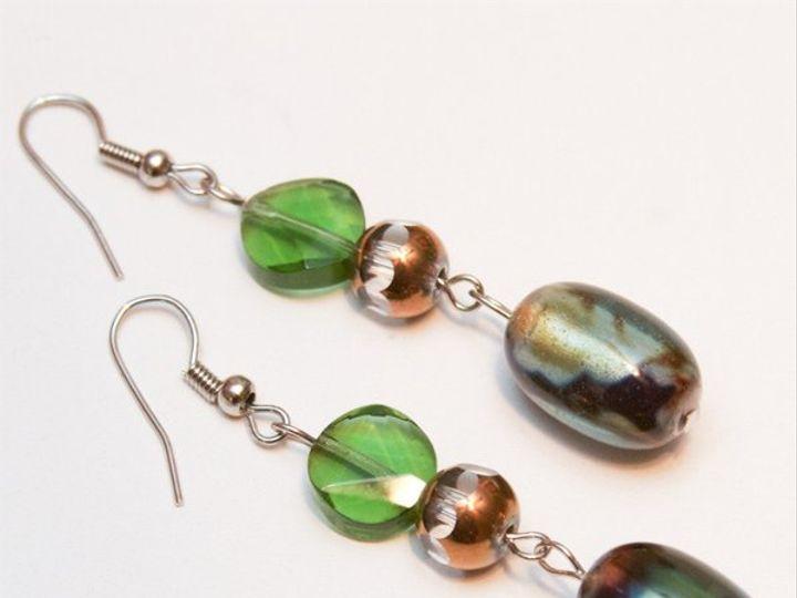 Tmx 1297299351291 BluesandgreensearringsW Janesville wedding jewelry