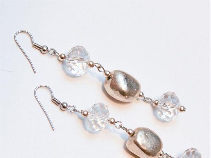 Tmx 1297299386963 ClearcrystalsandsilverearringsW Janesville wedding jewelry