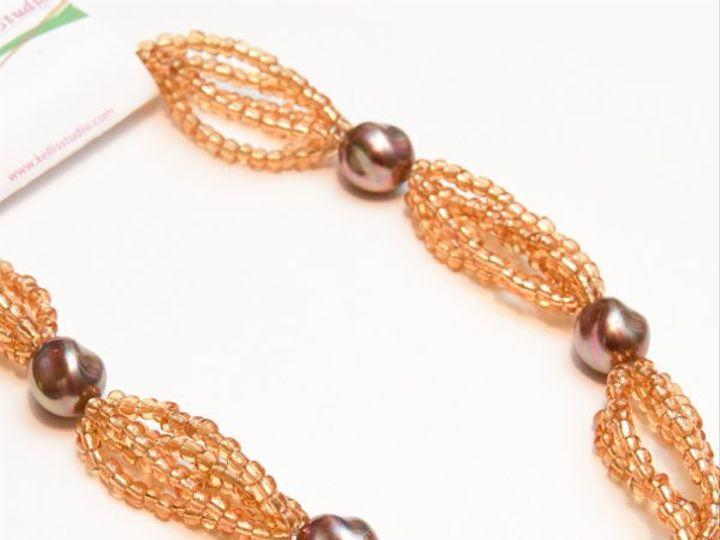 Tmx 1297299415885 GoldandbrownnecklaceW Janesville wedding jewelry
