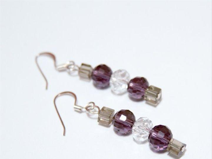Tmx 1297299530291 PurpleandgreyearringsW Janesville wedding jewelry