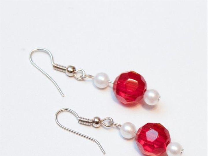Tmx 1297299557041 RedandwhiteearringsW Janesville wedding jewelry