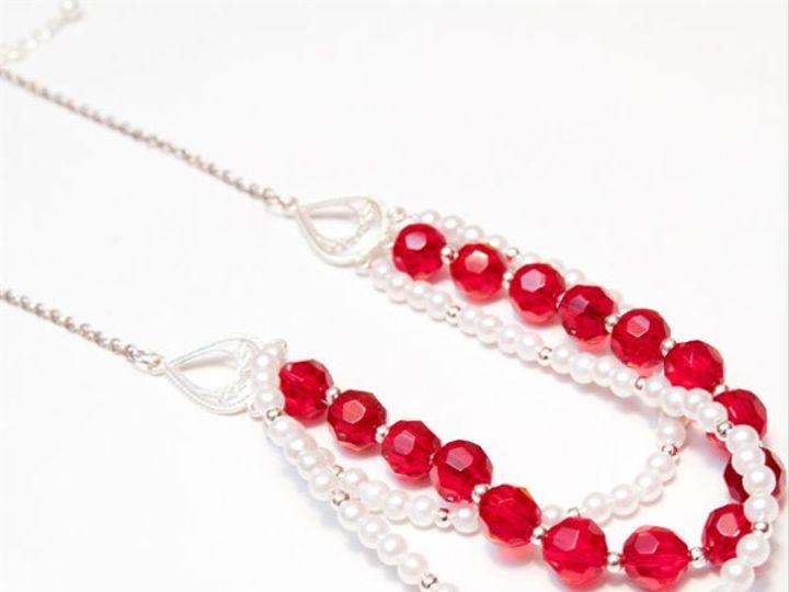 Tmx 1297299567479 RedandwhitenecklaceW Janesville wedding jewelry