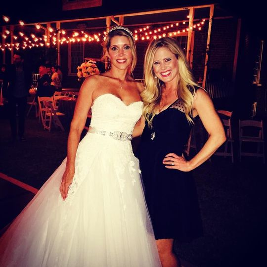 Band member with bride