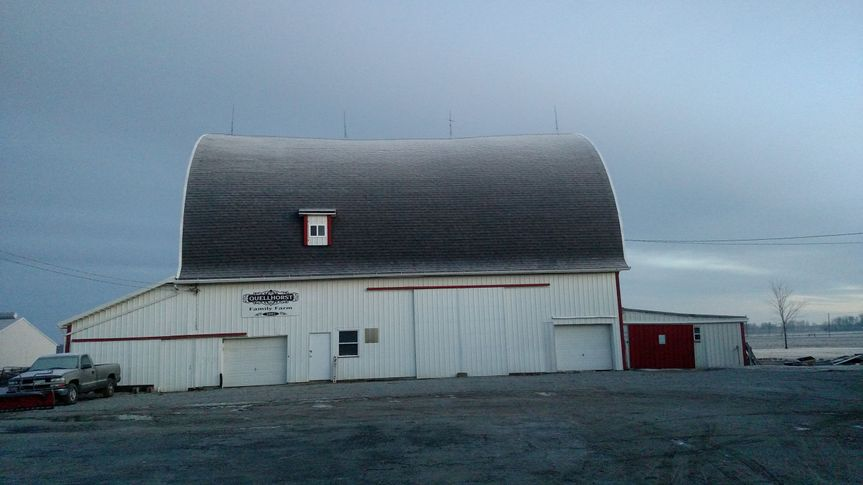 Beautiful picture of the barn