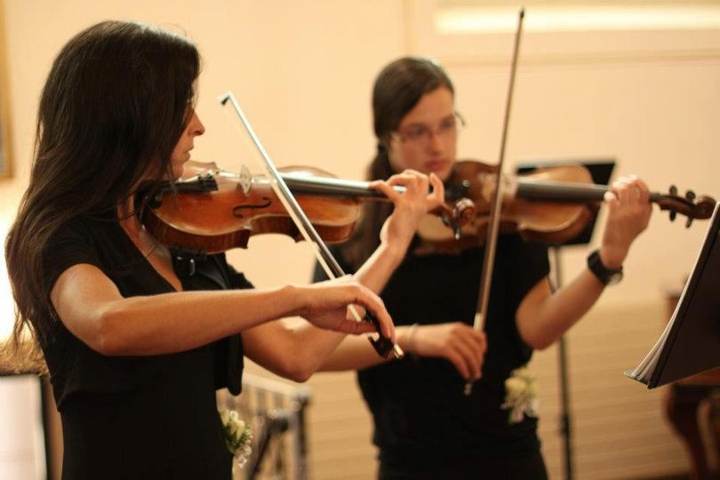 Karen and Rebekah playing duets for a beautiful summer wedding. - July 2012