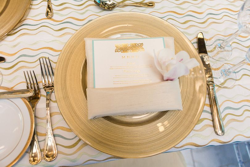 Gold cutlery and plating