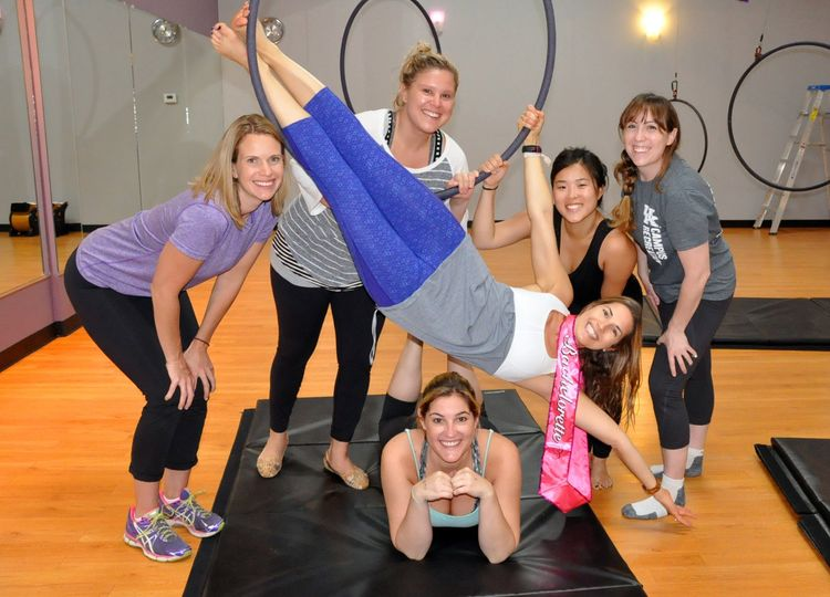 Our Aerial Hoop parties are hot and perfect for a unique and adventurous bride to be.