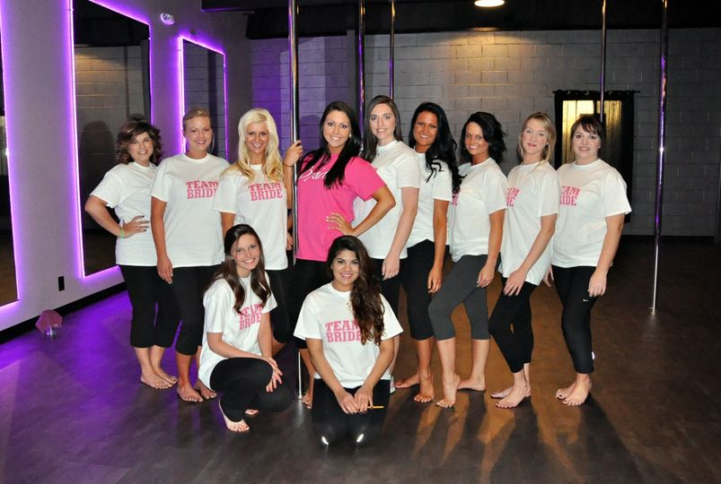 This beautiful group of ladies had a blast at their pole dancing party.
