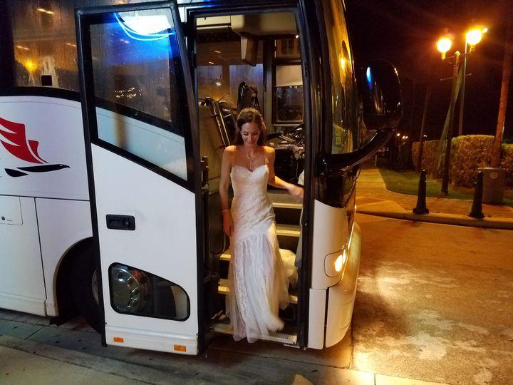 wedding bride buses