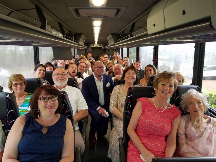 wedding group bus