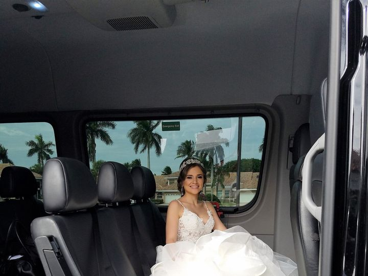 Tmx 1485444656645 Wedding Bride In Sprinter Hallandale wedding transportation