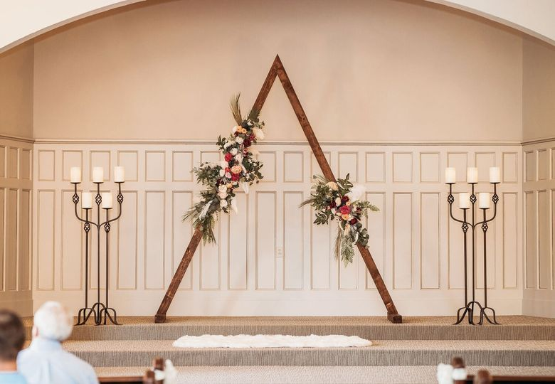 Triangular Arch with Candles