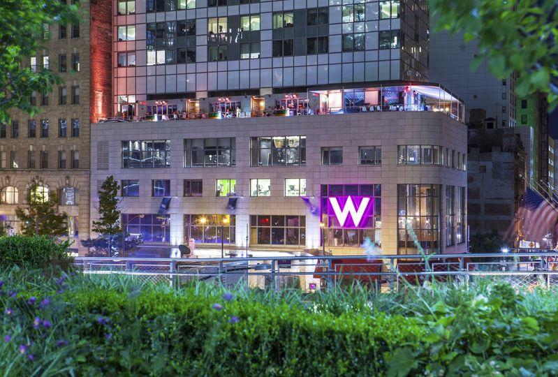 Hotel facade, fuel the night