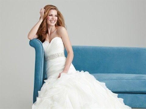 Fancy white wedding gown