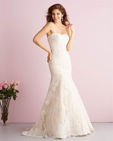Full on lace wedding dress