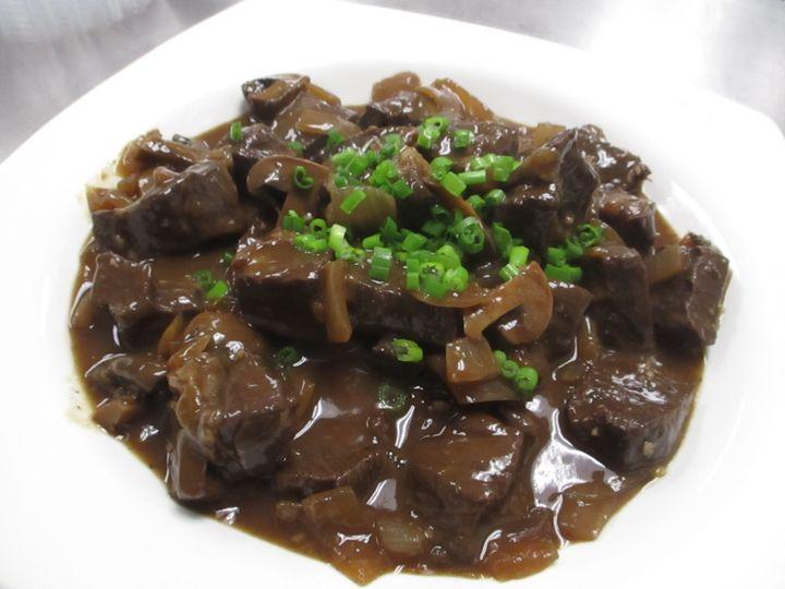 Marinated beef tips