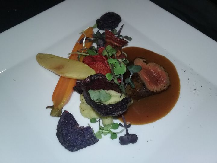 Venison plate wine dinner