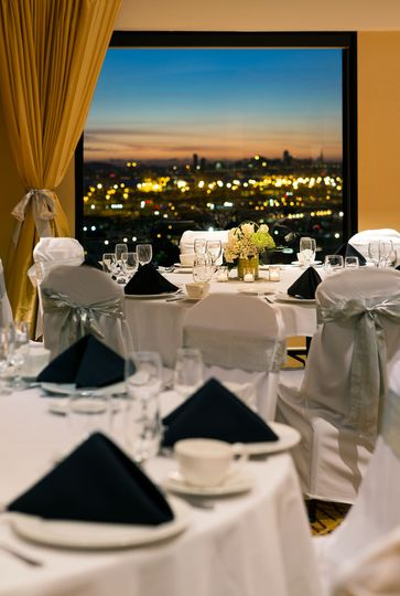 Stunning views of the San Francisco Bay Area and Downtown Oakland from our beautiful Skyline Room