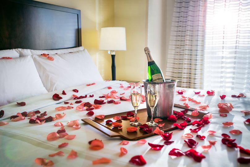 Wake up as newlyweds in the honeymoon suite