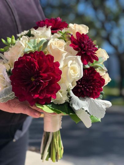 Burgundy Dahlias Bouquet