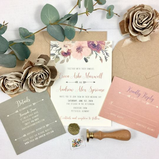 Rose, Blush and Olive Floral