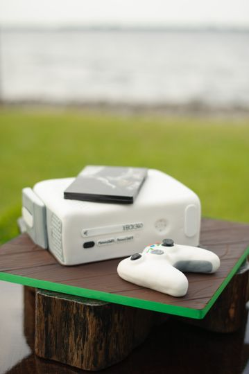 Game console inspired cake