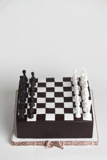Chess inspired cake
