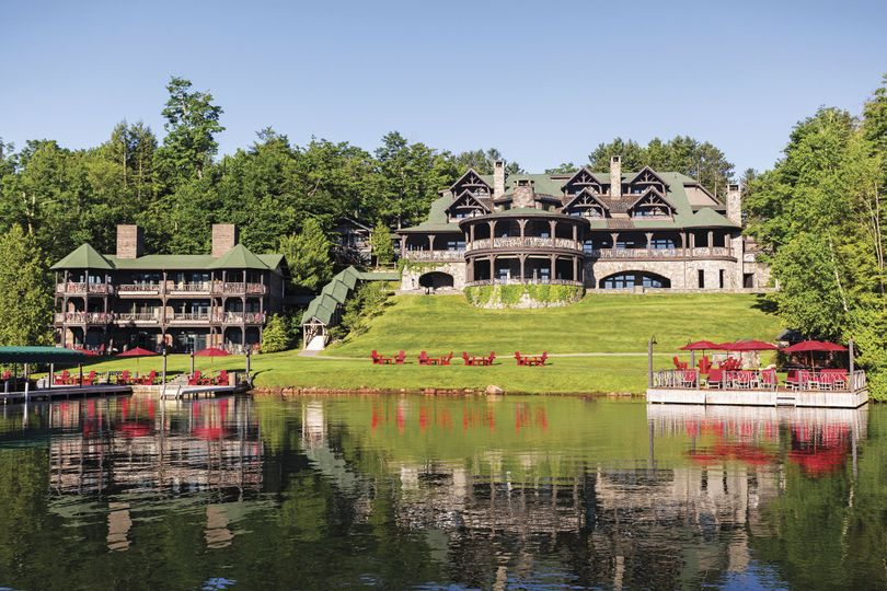 Lodge Exterior from the Lake