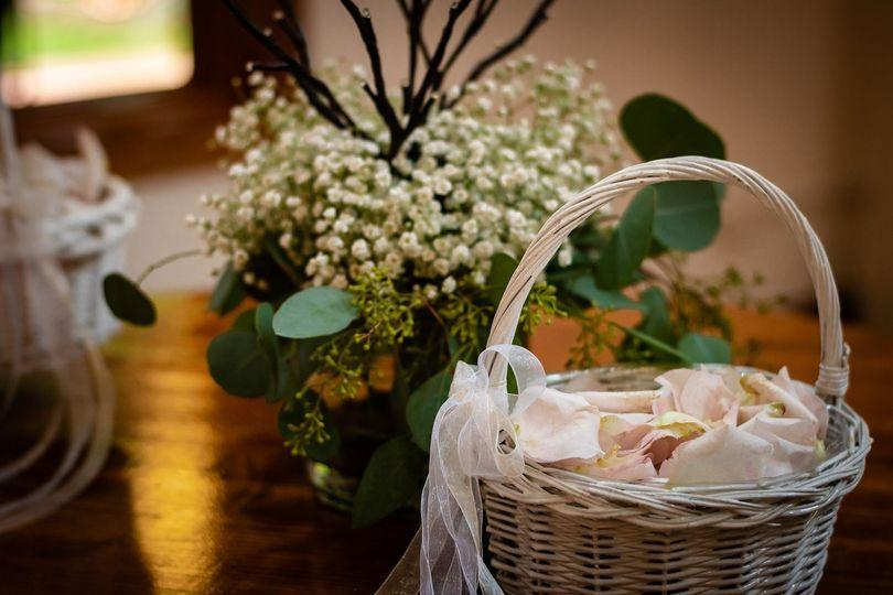 Flower petal basket