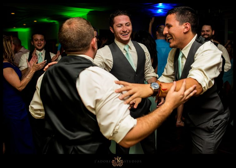 Dancing with Groomsmen