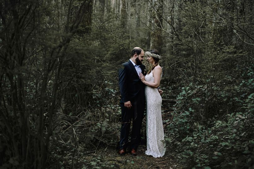 Couple in a forest