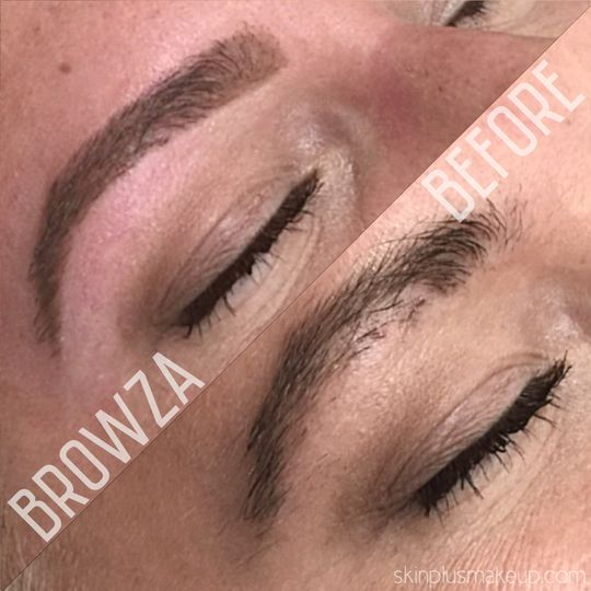 Eyebrow before and after