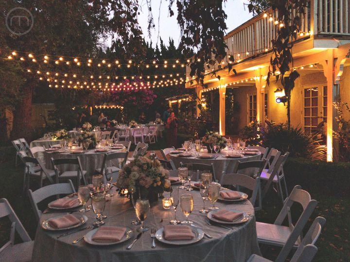 Garden reception ambiance
