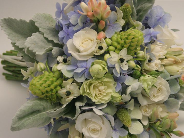 Tmx 1405282738880 Bridal Bouquet White Pale Blue Green Botanica Flor Portland, Oregon wedding florist