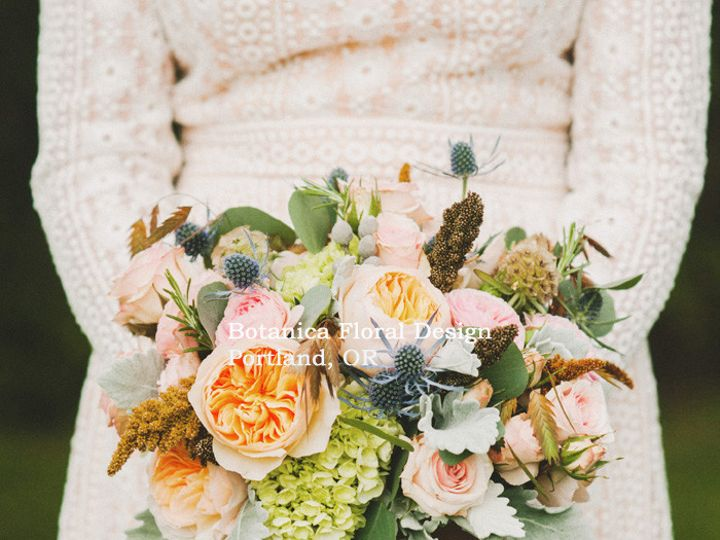 Tmx 1405283517368 Bridalbouquetenglandmeetsportlandpinkbluetangreenb Portland, Oregon wedding florist