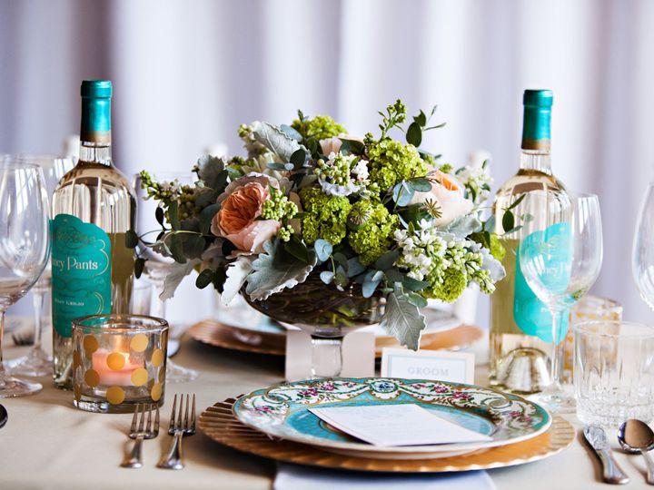 Tmx 1405284966523 Weddingcenterpieceblushmintturquoisebotanicafloral Portland, Oregon wedding florist