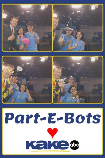 The Part-E-Bots waking up Wichita on KAKE morning news!