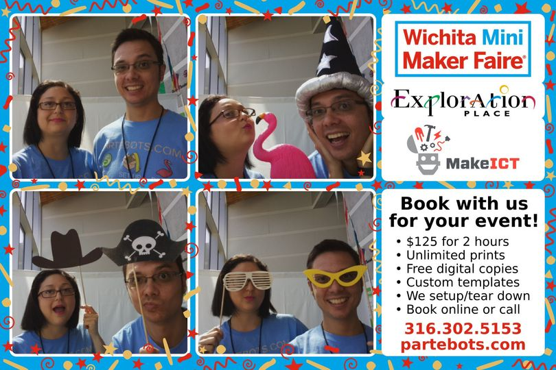 Roz & Dom having a blast at Exploration Place for the 3rd Annual Wichita Mini Maker Faire