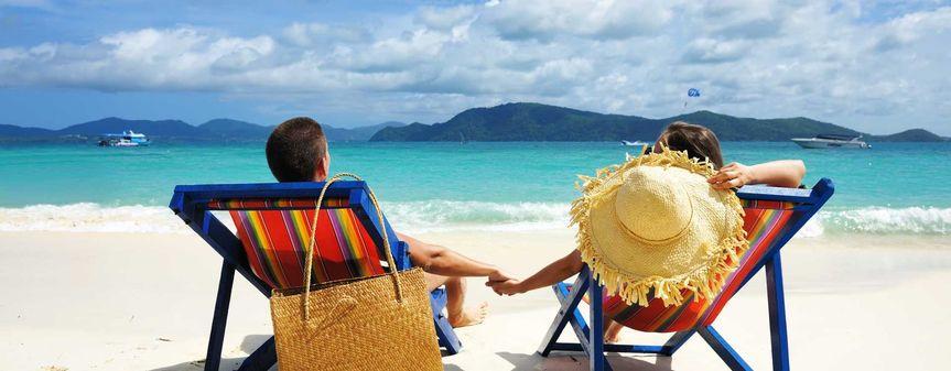 couple on tropical beach laguna villa 575