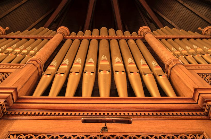 Pipes of the organ