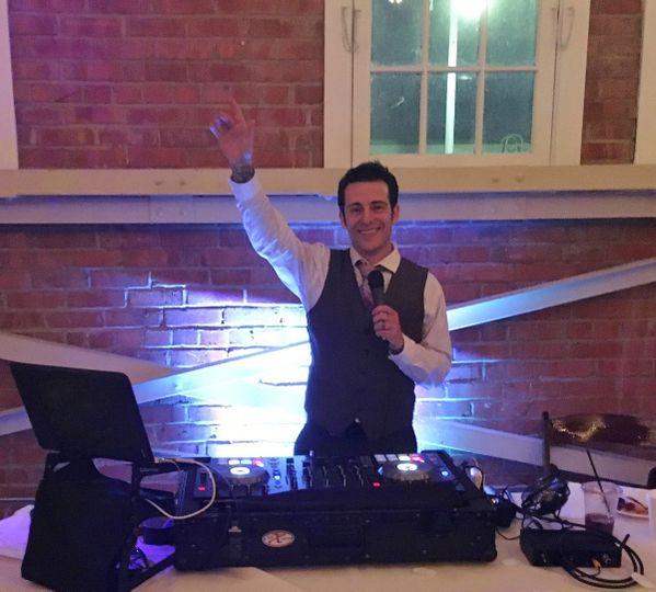 DJ on the mic
