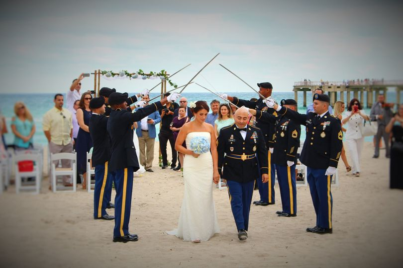 Small Military Wedding