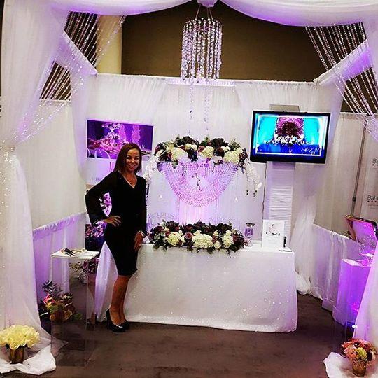 Therese at Bridal Tradeshow